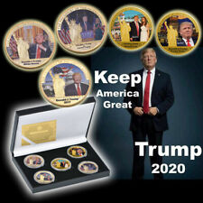 WR US President Donald Trump Gold Coin Set 5pcs In Gift Box Keep America Great