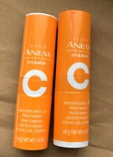 2 Avon Anew Vitamin C Antioxidant Lip Treatment  .13 oz. Colorless Finish-Sealed