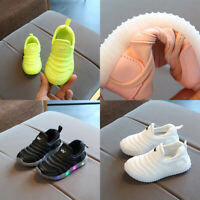 Girls Boys LED Running Trainers Shoes Kids Childern Comfort Sports School Summer