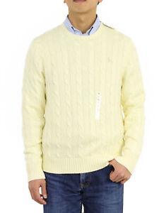 Polo Ralph Lauren Men's Crewneck Cotton Cable Pullover Sweater -- 8 colors --
