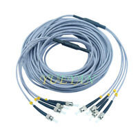 100M ST-ST Multi-Mode 4 Strand Indoor Armored Optical Patch Cord Fiber Cable