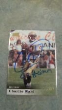 2013 CHARLIE WARD UPPER DECK STAR CARD # 50 FSU SEMINOLES AUTOGRAPHED