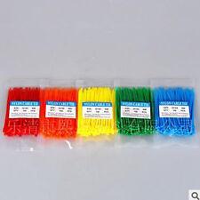 Cheap New 100pcs Black White Network Nylon Plastic Cable Wire Zip Tie Cord Strap