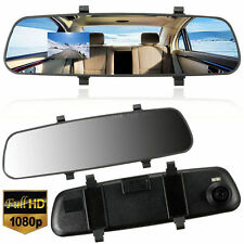 Car HD 1080P 2.7'' Video Recorder G-sensor Dash Cam Rearview Mirror Camera DVR R
