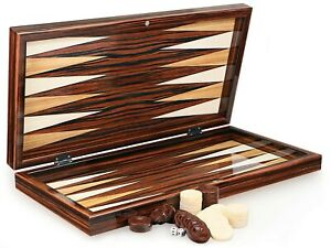 Hermosa Ébano Óptica Clásico Backgammon XXL Tavla