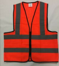 Security Safety Vest Reflective Stripes Orange Or Yellow Mesh Fabric X 6