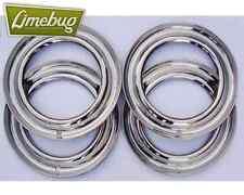 "15"" Beauty Trim Rings Stainless Steel Set 5 x 205 PCD Wheel VW Bug Beetle T2"