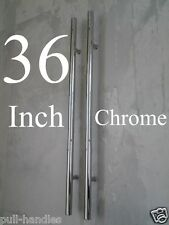 "Entry Door Pull Handles 36"" Long Polished Chrome Front Entrance Modern Ladder"