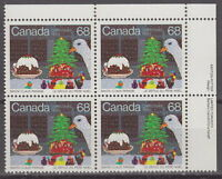 CANADA #1069 68¢ Santa Claus Parade UR Inscription Block MNH