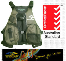 S2S Olive Fishing PFD Life Jacket Vest Kayak Angler Sit on Top New MTI Calcutta
