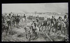 Glass Magic Lantern Slide ADVANCE OF IMPERIAL GUARD C1890 BATTLE OF WATERLOO