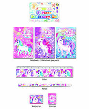 6 Unicorn Stationery Sets - Pinata Toy Loot/Party Bag Fillers Wedding/Kids