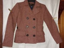 Gap Women's Sz 0 Rust Color Wool Blend Jacket Peacoat Double Breasted New W/Tags