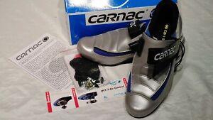 Classic Vintage Carnac Road Cycling Shoes Legend Carbon Graphite 44 NIB