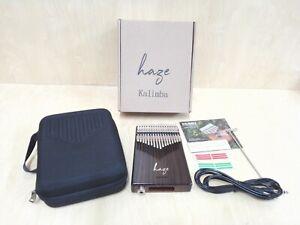 Haze 17-Key Solid Rosewood Kalimba MBIRA Thumb Piano+Pickups,EVA Hard Case 01ER
