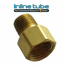 1/8 NPT Male 1/2-20 Inverted Flare Brass Adapter Transmission Line Brake Line