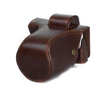 Battery Compartment Camera Case Case for Olympus E-PL7/E-PL8 Bag Coffee CC1719c