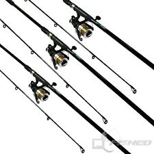 3 x Carp Fishing Rods And Reels. 12ft Fishing Rod With Reel And Line