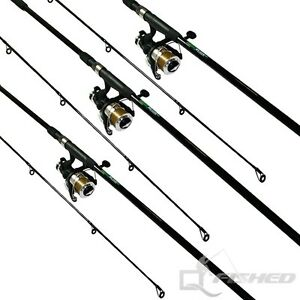3 x carp fishing rods