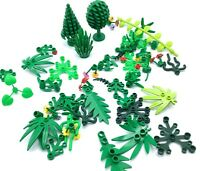 LEGO LOT OF GREENERY PARTS TREES VINE LEAVES SHRUB FLOWER JUNGLE VEGETATION