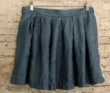 American Eagle Outfitters Chambray Pleated Full Mini Skirt Size M