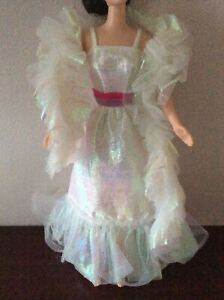 Collectors1980's Crystal Barbie doll clothes dress wrap fashion gown outfit