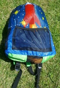 Sleeping Bag with the design of a Spaceman in Backpack [Child's]