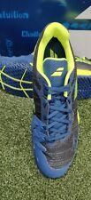New Men's Babolat Jet Mach ll AC Tennis Shoes Dark Blue/Fluo Yellow Size 11