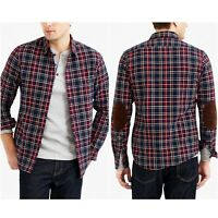 New J. Crew Men's Rugged Elbow Patch Plaid Check Shirt In Sizes Large or X-Large