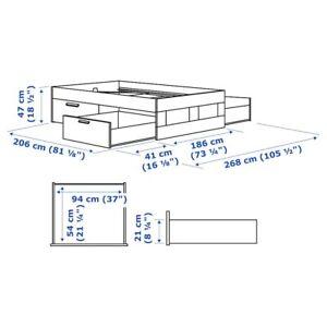 Ikea Bett Brimnes mit Lattenrost (&optional Matratze)