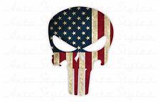 PUNISHER AMERICAN FLAG USA Sniper Skull DIECUT VINYL DECAL STICKER Full Color