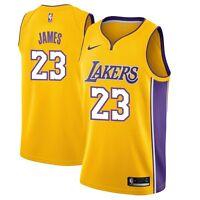 New Nike NBA Los Angeles Lakers LeBron James #23 Swingman Icon Edition Jersey