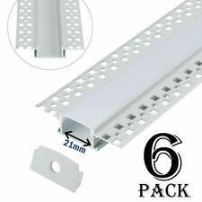 Aluprofil 6x1 Meter Aluminium Trockenbau-Profil-Leiste eloxiert für LED Streifen