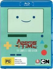ADVENTURE TIME - COMPLETE SEASON 3  Blu Ray - Sealed Region B for UK