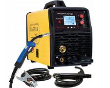 Halbautomatische Schweißgerät MIG204 ALU SYNERGIC MMA/MIG/MAG/WIG IGBT 200A 230V