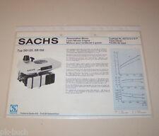 Typenblatt / Technische Daten Sachs Rasenmäher Motor SB 125, ST 150 Ausgabe 1976