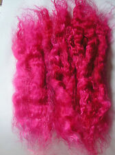 FANTASY DOLL HAIR TROLL FAIRY PUPPET WIG WEFT MOHAIR - HOT PINK 7 GRAMS