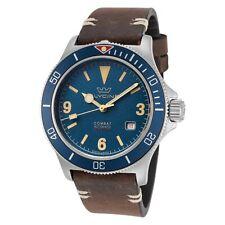 Glycine Men's Combat Sub Vintage GL0263 42mm Dark Blue Dial Leather Watch