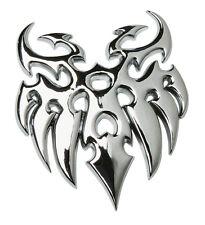 Chrome Tribal Tattoo Emblem Silver Badge 3D Car Decal Sticker Sign Bumper Rear