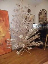 VINTAGE SILVER EVERGLEAM 7 FT. STAINLESS ALUMINUM CHRISTMAS TREE 100 BRANCHES