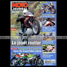 MOTO JOURNAL N°1264 APRILIA 650 PEGASO YAMAHA YZF 750 SUPERBIKE FJ 1100 1200 97