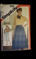 Simplicity  5576 sewing  pattern  Ladies Ricki for finity skirt Size 8
