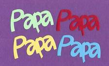 """PAPA""  dad father die cuts scrapbook cards"