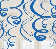 12 X Bleu Royal pendant Tourbillons Décoration pour Fête Foncé Décorations