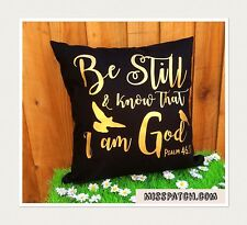 Bible Verse Scripture Cushion Cover, Reading Pillow Cover, Be Still My Soul