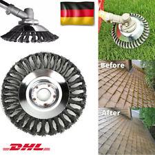 6'' Stahl Wire-Wheel Bürste Gras Trimmer Bürsten Kopf Reinigung Garten Gras DEU