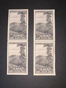 US Stamps SC# 765 Great Smokey Mts 10c horz line 2 pairs MNH imperf 1935