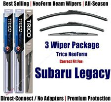 3-Pack Wipers Front & Rear NeoForm fit 1990-1994 Subaru Legacy 16200/180/30150