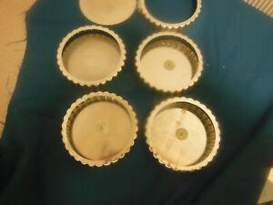 "Metal Individual 4 1/2"" Tart Pans Mini Quiche Pans Pie Round Set of 5"