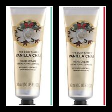 THE BODY SHOP VANILLA CHAI HAND CREAMS X2. 1 OZ EACH. NEW,